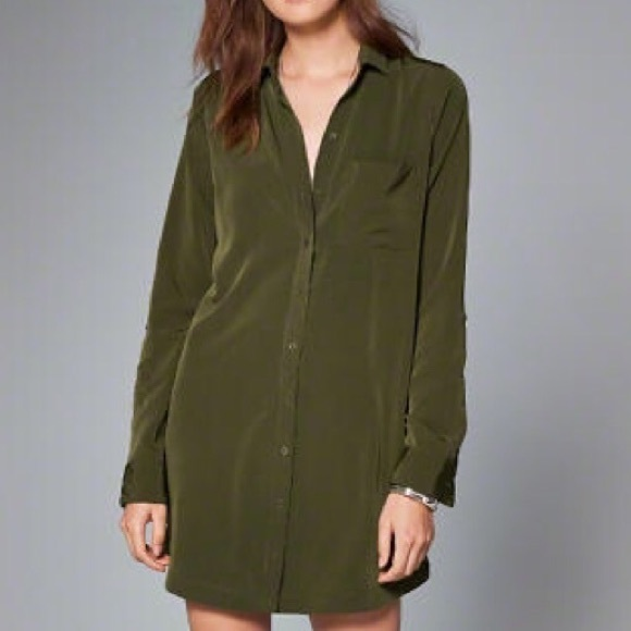 0542068721e Abercrombie & Fitch Dresses | Abercrombie Fitch Army Green Shirt ...